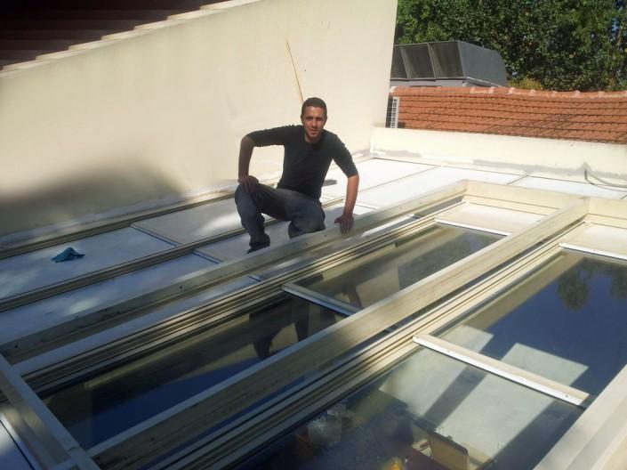 התקנת תריס חשמלי בגג בית פרטי