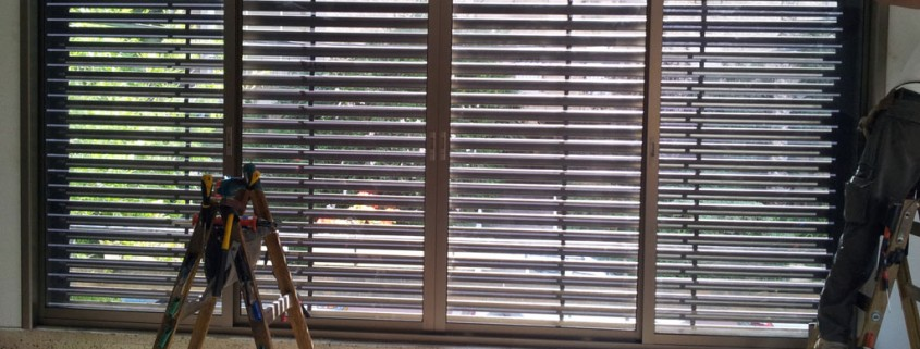 התקנת תריסים חשמליים מאלומיניום בדירה